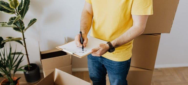 Not taking inventory is one of the most common moving mistakes
