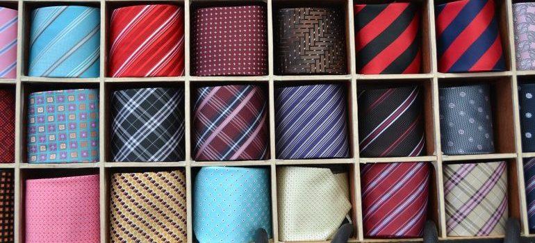 a tie box