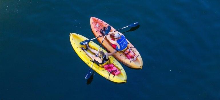 Enjoy paddle boarding on Huron River.