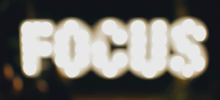 a sign saying Focus