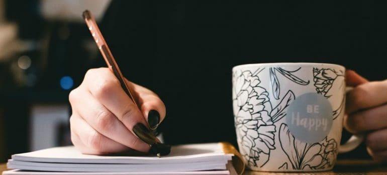 Writing a plan when moving to Farmington MI.