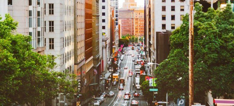 A street in San Francisco.