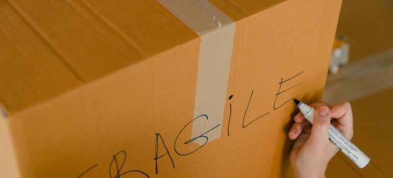 Cardboard box for packing camping equipement.